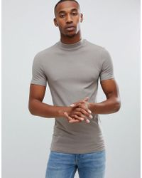 9a0e4418 Lyst - Boohoo Short Sleeve Turtle Neck Tshirt in Green for Men
