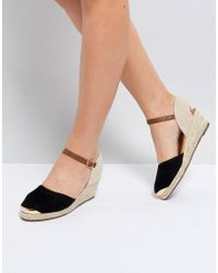 Miss Kg - Wedge Espadrille With Ankle Strap - Lyst