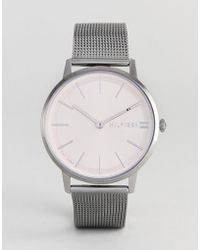 Tommy Hilfiger - 1781935 Mesh Watch In Gunmetal 40mm - Lyst