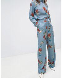 Gestuz - Natacha Floral Print Trousers - Lyst