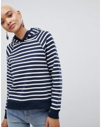 SELECTED - Femme Striped Over Head Hoodie - Lyst