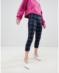 UNIQUE21 - Unique 21 Brushed Plaid Trousers - Lyst