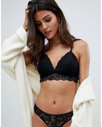 New Look - Molded Lace Bralette - Lyst