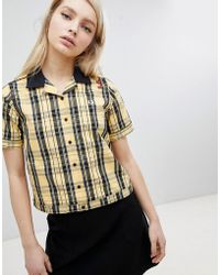 Fred Perry - Amy Winehouse Foundation Tartan Check Bowling Shirt - Lyst
