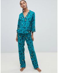ASOS - Ensemble traditionnel avec pantalon imprim lopard 100% modal - Lyst