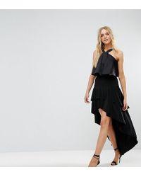 John Zack - Ruffle Skirt With High Low Hem - Lyst