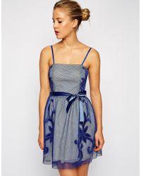 ASOS - Mesh Applique Prom Dress - Lyst