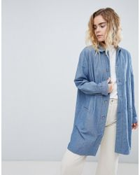 Bethnals - Graham Chambray Duster Jacket - Lyst