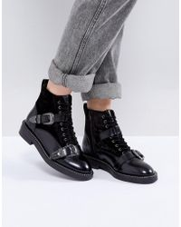 Office - Asteroid Leather Buckle Boots - Lyst