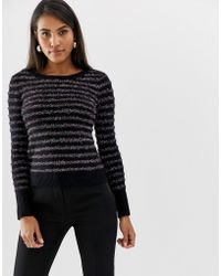 Oasis - Jumper With Crew Neck In Metallic Stripe - Lyst
