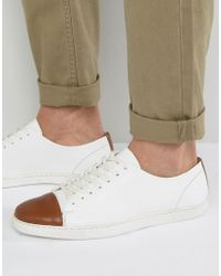 Dune - Tate Lo Trainers In White Leather - Lyst