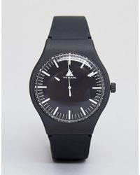 ASOS - Sleek Watch In Monochrome With Silicone Strap - Lyst