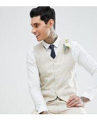 Heart & Dagger - Skinny Waistcoat In Linen - Lyst