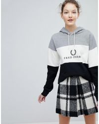 Fred Perry - Wreath Logo Panel Hoodie - Lyst