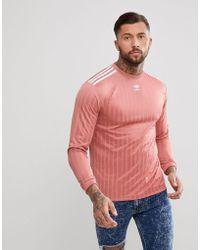 adidas Originals - Adicolor Long Sleeve Football Jersey In Pink Cw1226 - Lyst