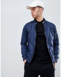 Lambretta - Contrast Collar Harrington Jacket - Lyst