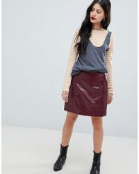 Vero Moda - High Shine Skirt - Lyst