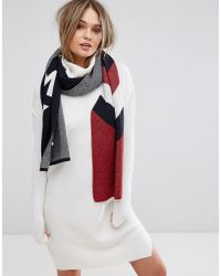 Hilfiger Denim Chevron Lurex Scarf