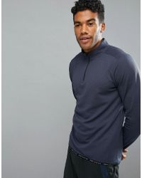 Perry Ellis - 360 Sports 1/4 Zip Sweat In Navy - Lyst