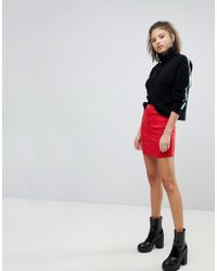 Missguided - Denim Mini Skirt - Lyst