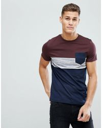 ASOS - T-shirt With Pocket In Inject Fabric - Lyst