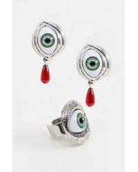 Cheap Monday - Eyeball Earring & Ring Set - Lyst