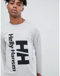 Helly Hansen - Heritage Long Sleeve Top In Grey - Lyst