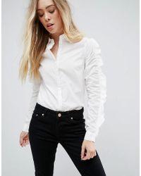 Vero Moda - Ruffle Sleeve Shirt - Lyst