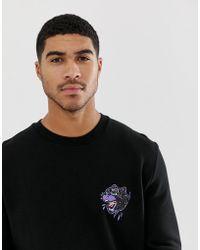 ASOS Schwarzes Sweatshirt mit Stickerei