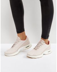 Nike - Air Max Jewell Trainers In Pastel Pink Leather - Lyst