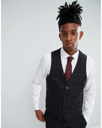 Rudie | Twisted Check Skinny Fit Waistcoat | Lyst