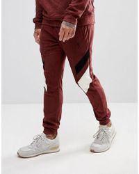 Religion - Tapered Fit Jogger In Suedette With Contrast Panels - Lyst