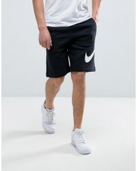 Nike - Jersey Shorts With Large Logo In Black 843520-010 - Lyst