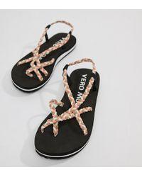 Vero Moda - Multi Strap Flat Sandal - Lyst