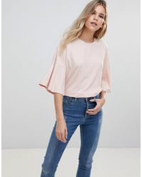 ONLY - Dina Plisse Top - Lyst