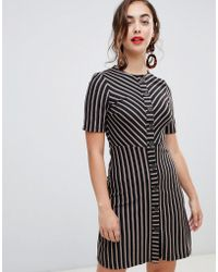 Warehouse - Button Down Dress In Stripe - Lyst