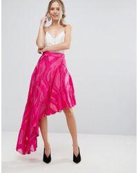 Coast - Jacquard Asymetric Skirt - Lyst