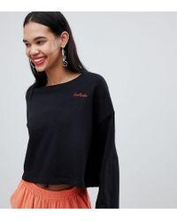 Weekday - Crop Wide Sweater With Heartbreak Slogan - Lyst