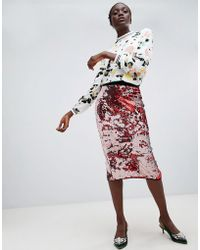 Essentiel Antwerp - Sequin Midi Skirt - Lyst