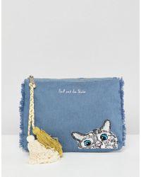 Paul & Joe - Sister Denim Cat Clutch Bag - Lyst