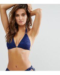 DORINA - Exclusive Navy Triangle Crochet Bikini Top - Lyst