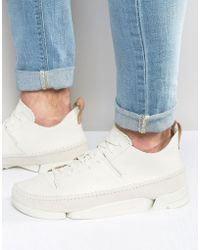 Clarks - Trigenic Leather Trainers - Lyst