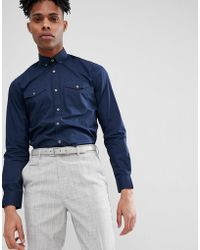 French Connection - 2 Pocket Military Shirt - Lyst