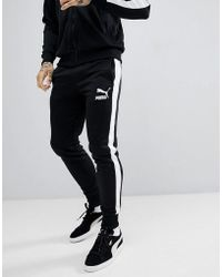 PUMA - Archive T7 Joggers In Black 57265701 - Lyst