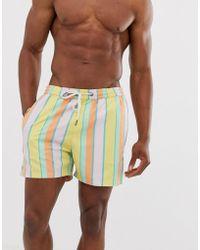 Another Influence - Stripe Print Swim Shorts - Lyst