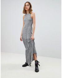 AllSaints - Maxi Dress In Melange - Lyst