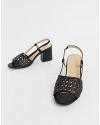 9d63f2483a5e Oasis Block Heeled Sandals With Glitter Heel In Purple in Purple - Lyst