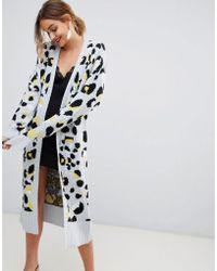 Lost Ink - Cardigan In Leopard Print - Lyst