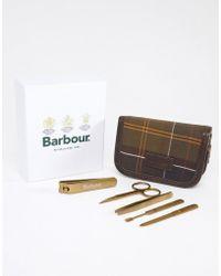 Barbour - Classic Tartan Manicure Gift Case In Green - Lyst