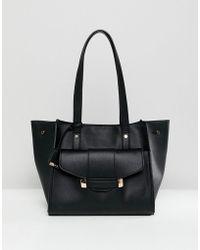 Glamorous - Black Front Pocket Bag - Lyst